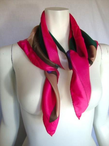 vintage hand rolled 1950's Scarf