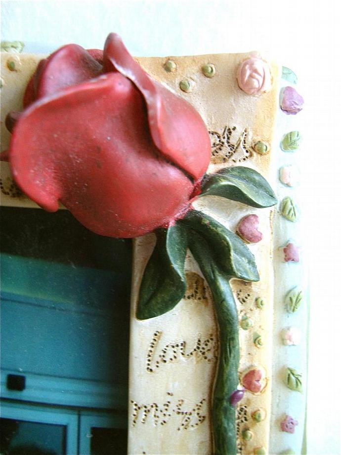 vintage dimensional love letter photo frame