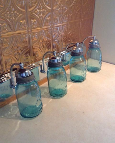 Ball Jar Vanity Lights : Mason Jar Lighting Fixture, Mason Jar Vanity JunkyardJems