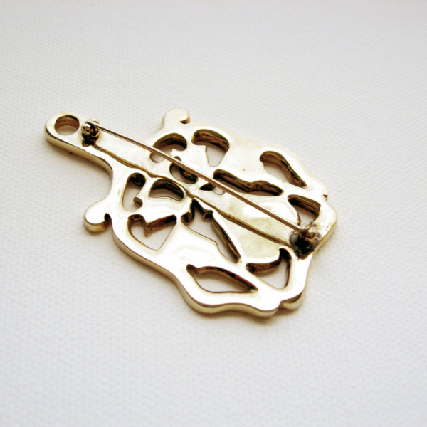Vintage Pennsylvania Dutch Gold-toned Brooch