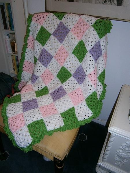 Crochet Patch Work Baby Blanket