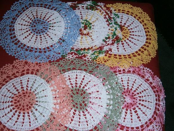 Multi color Doilies