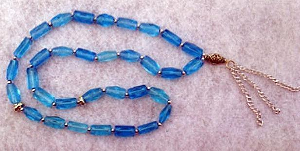 Blue Islamic Subha سبحة or Misbaha  مسبحة (Prayer Beads)