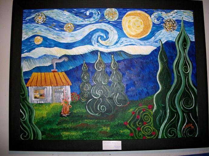 Smokie Mtn Nights-original painting