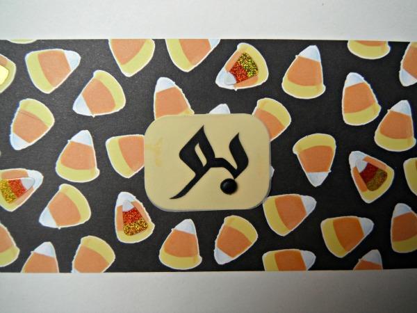 Arabic Halloween  بو  and Candy Cane Handmade Card