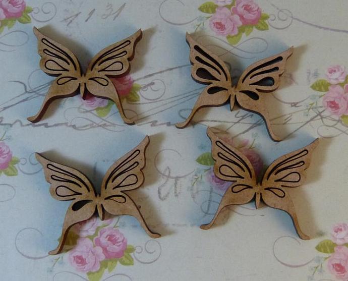 Mini butterflies-4pcs