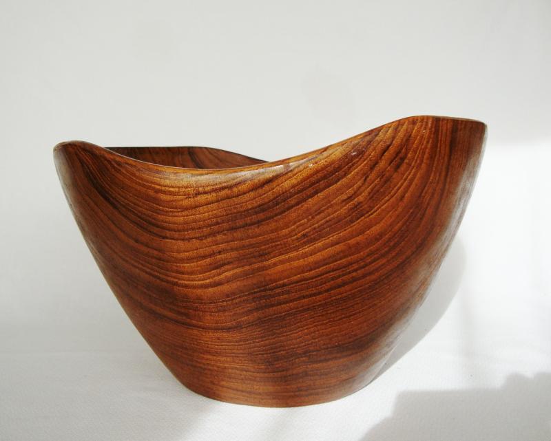 vintage teak wood bowl