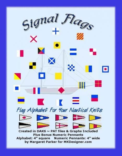 Nautical Signal Flags Machine Knit DAK or Hand Knit GRAPHS