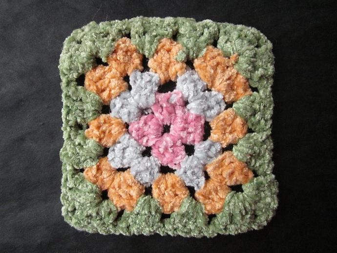 Unique Chenille Granny Square Motif