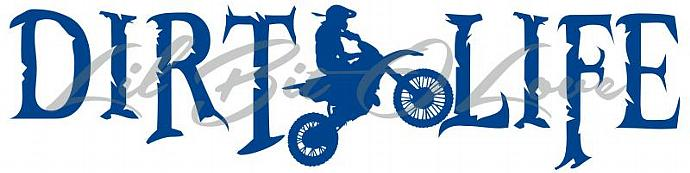 Dirt Life Vinyl Decal with Dirt Bike Sticker Car Window Vehicle