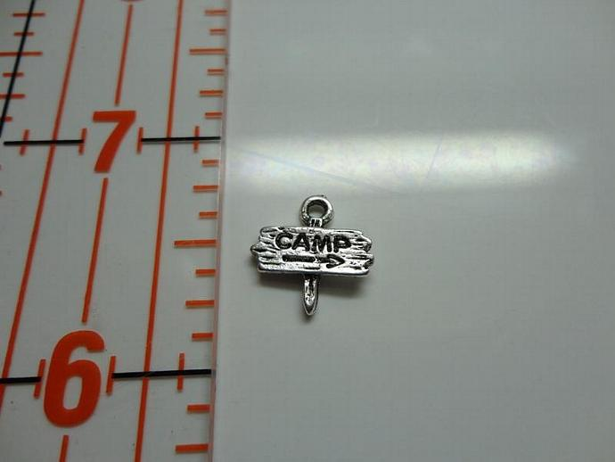 Camp Sign Charm - Silver