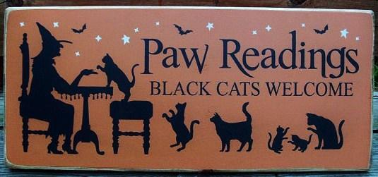 cats black cat halloween decorations witches paw readings tarot cards astrology