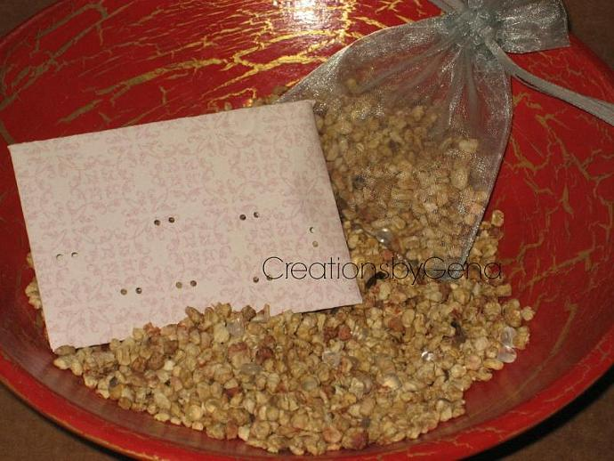Lavender Rose Scented Cellulose ground corn cob and aroma beads Sachet potpourri