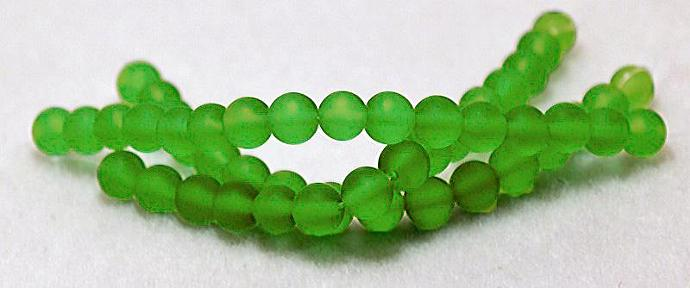 Perky Peridot- recycled sea glass beads