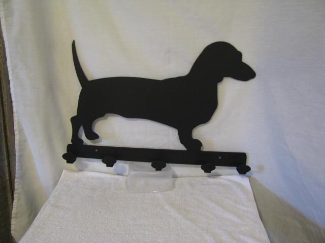 Dachshunds Coat Rack Metal Wall Art Dog Silhouette