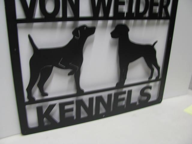 Metal Custom Dog Kennel Sign Wall Art