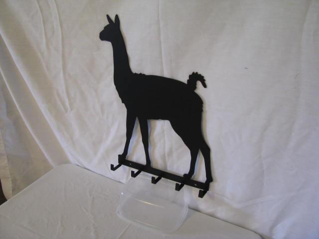 Llama 1 Key Rack Metal Farm Wall Art Silhouette