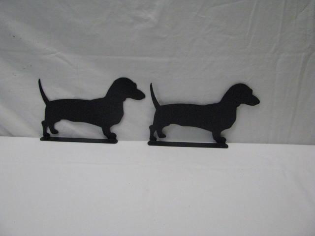 Dachshunds Mailbox Topper Set of 2 Metal Wall Art Silhouette