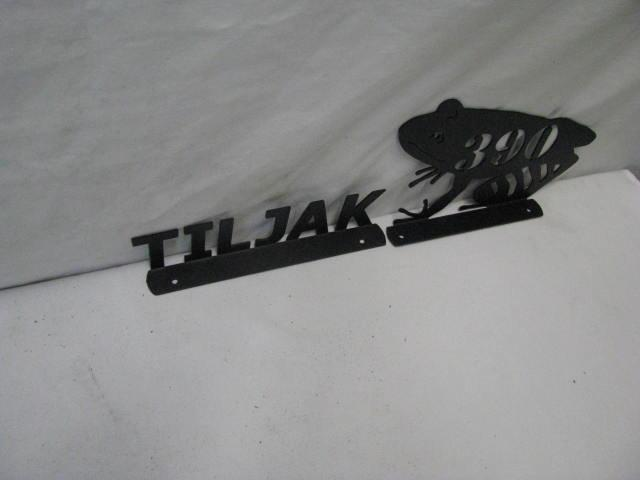 Frog Mailbox Topper with Name Metal Yard Silhouette