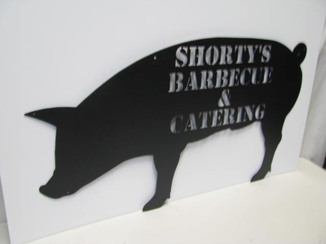 Hog Pig Silhouette Custom Metal Sign Farm  Wall Yard Art