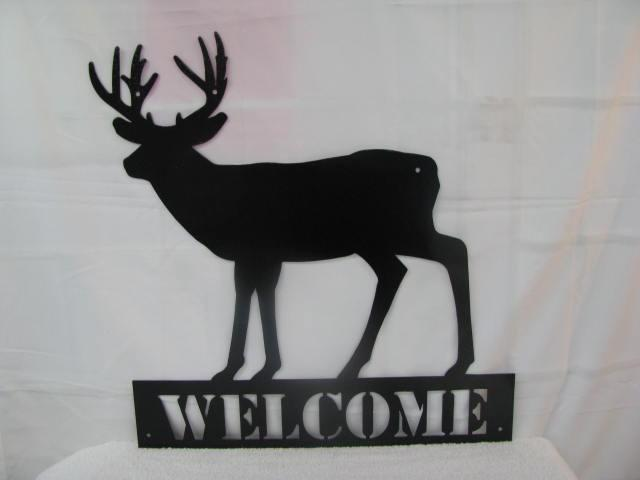Deer 2 Welcome Wildlife Metal Wall Yard Art Silhouette