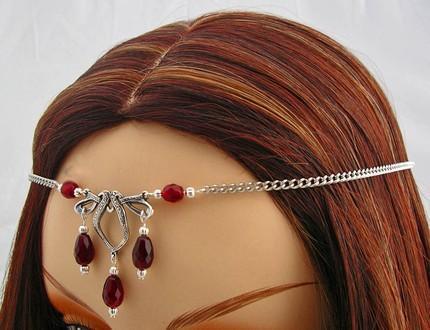CUSTOM color CELTIC Elven Bridal CIRCLET head piece SCA