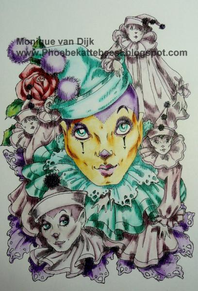 Pierrots digi stamp