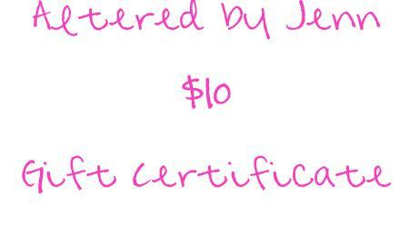 Gift Certificate - $10