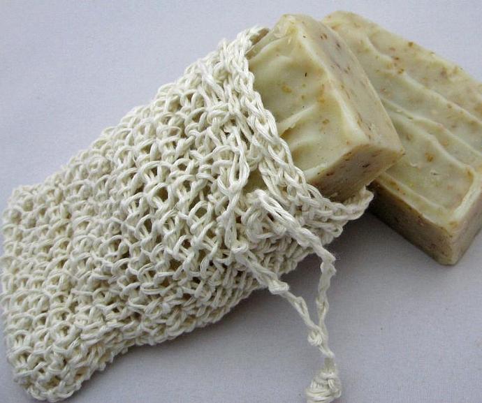 Premium White Hemp Soap Saver Sack