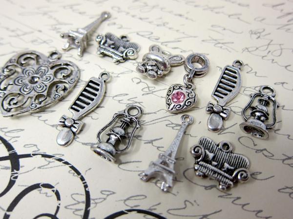 Girly Charm Set - 11pc Silver