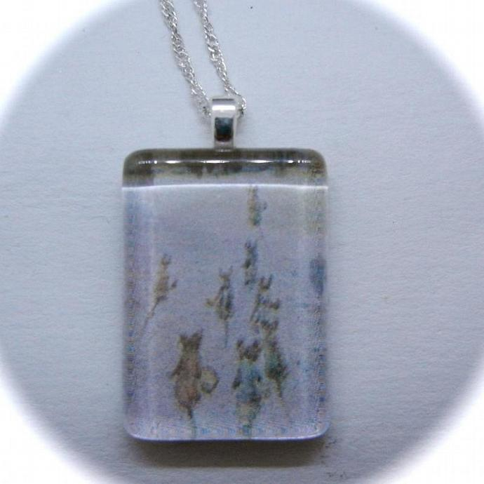 Beatrix Potter Glass Pendant of Miniature Characters in Johnny Town-mouse,