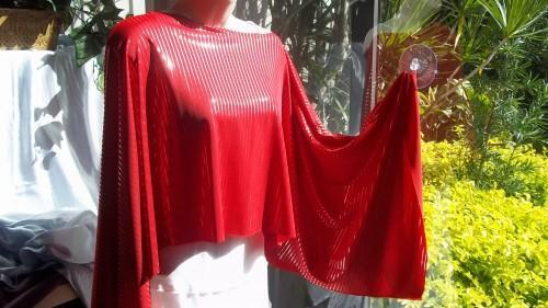 Shawl/Shrug/Poncho  With Long Flowing Sleeves, Speckled in Silver