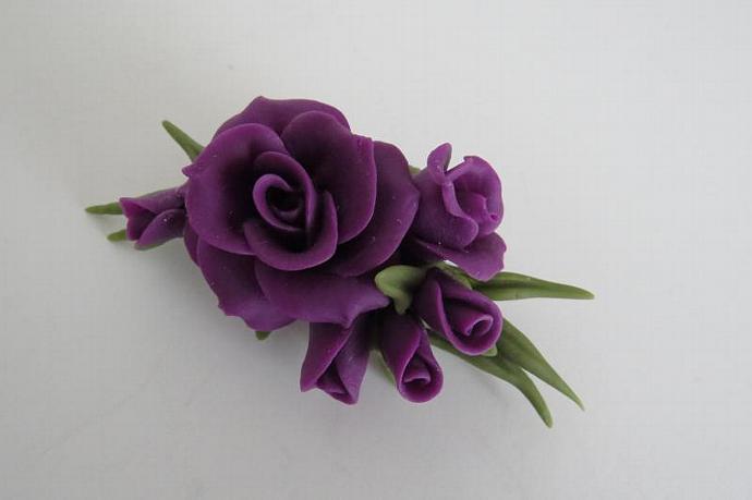 Cold Porcelain Floral Pin