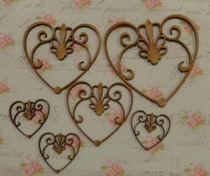 Wood fancy hearts no.1