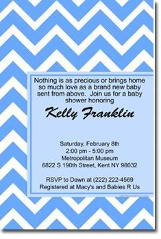 Chevron Baby Shower Invitations ANY COLOR (download jpg immediately)