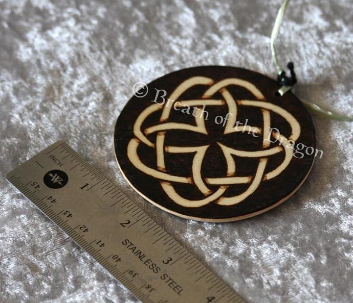 Dark Celtic knotwork round ornament