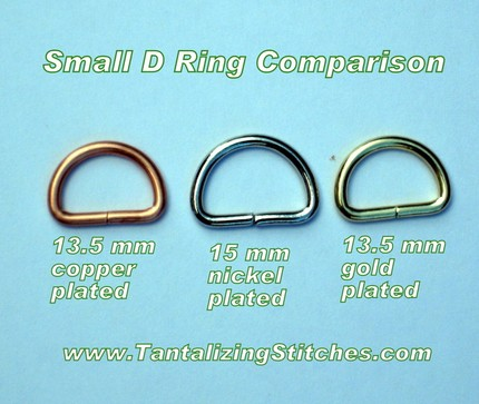 40 Copper Plated Unwelded D Rings - 13.5 mm