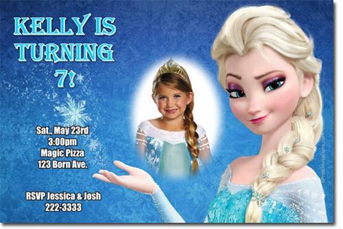 Frozen the Movie Birthday Party Invitations (Download JPG Immediately)