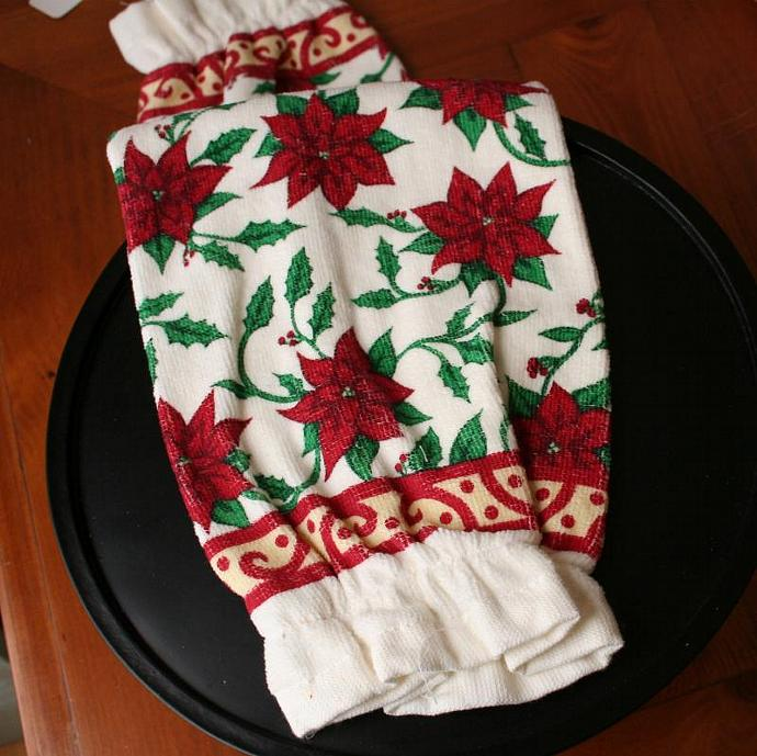 Christmas Poinsettia Grocery Sack Stuffer