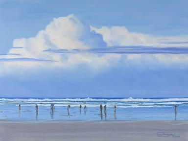 """Clamming Weather"" Giclee Paper Print by Carol Thompson"