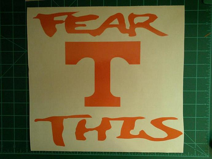 New FEAR THIS TENNESSEE Vols Power T Cornhole Decals - Window Decals Ready To