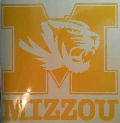 SEC MIZZOU TIGERS 2 - 5 x 5 Window Decals - Vehicle Decals Ready To Apply