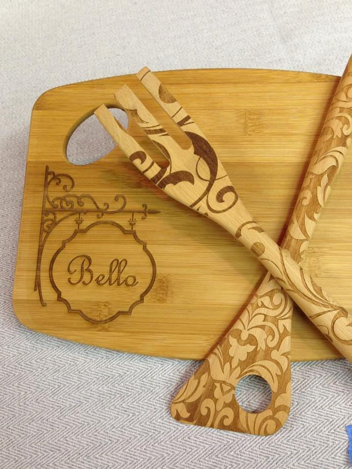Custom Cheese or Cutting Board | Personalized Monogram