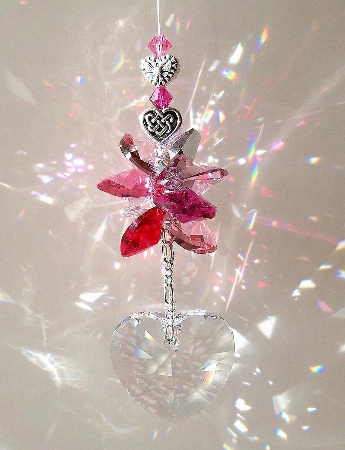 Swarovski Crystal Suncatcher Truly, Madly, Deeply