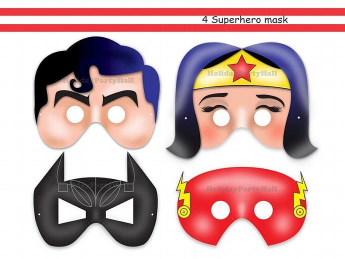 Unique Superheroes Printable Masks Wonder By