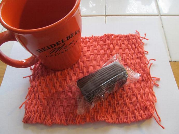 Flamingo Mug Rug - Coaster Mug Mat Snack Coffee Tea Hot Drink Cold Drink Can