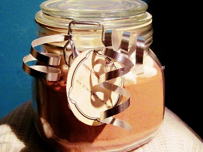 Homemade Hot Cocoa Mix With Marshmallows 16 ounce - Made To Order- Gift in a Jar