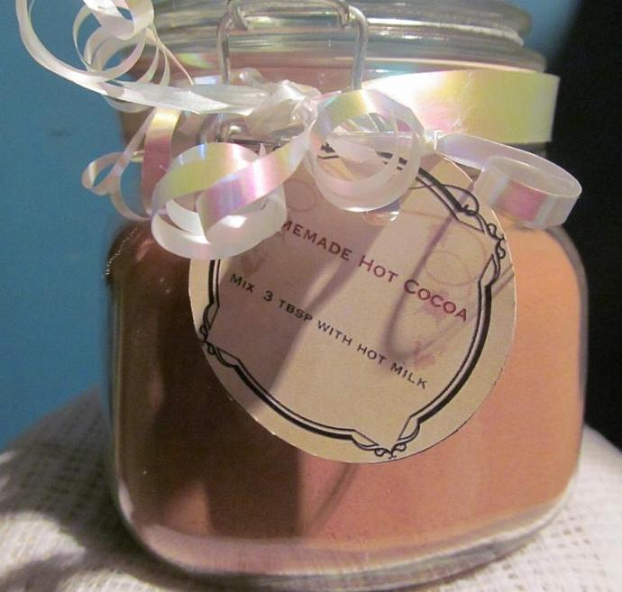 Homemade Hot Cocoa Mix 16 ounce - Made To Order- Gift in a Jar Chocolate Lovers