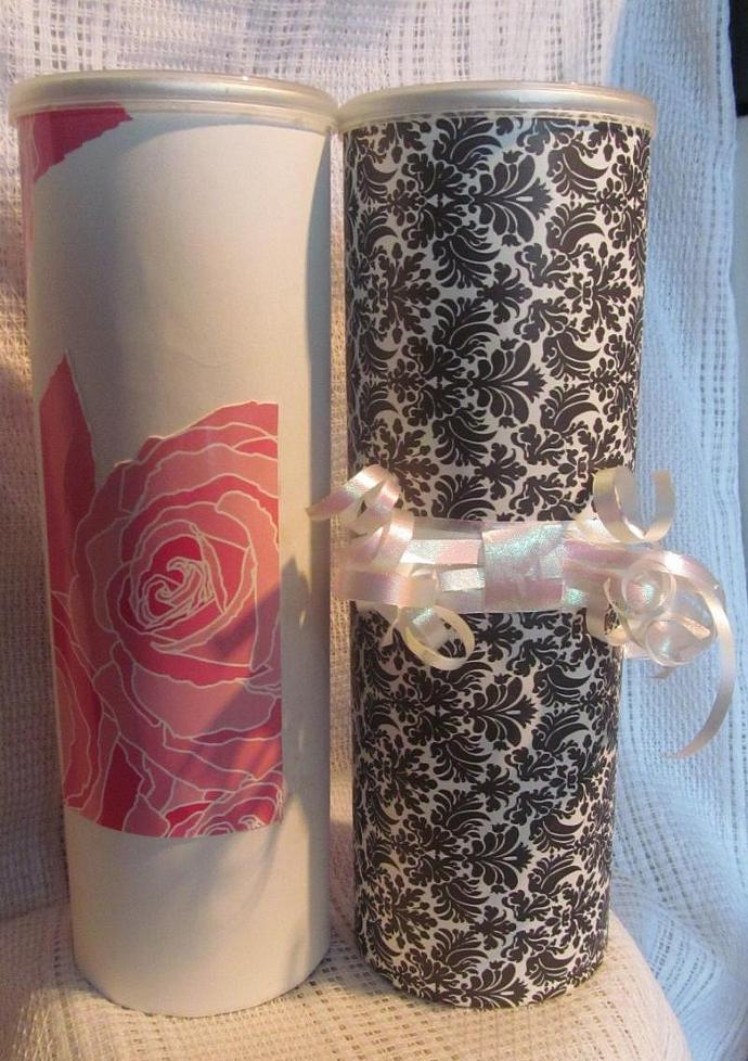 The Elegant Collection Gift Tubes Set of 2 - Upcycled/Recycled Gift Box Gift
