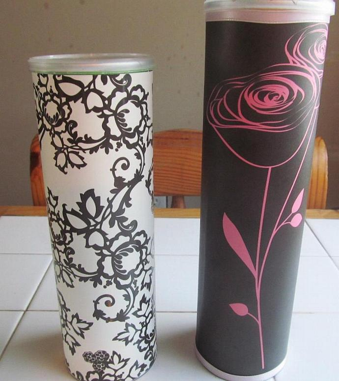The Elegant Collection Gift Tubes Set of 2- Upcycled/Recycled Gift Box Gift